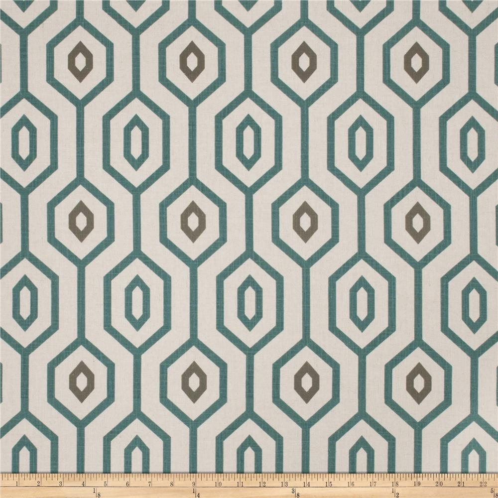 Fabricut Sonic Youth Linen Blend Teal