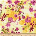 Timeless Treasures Rosa Watercolor Floral