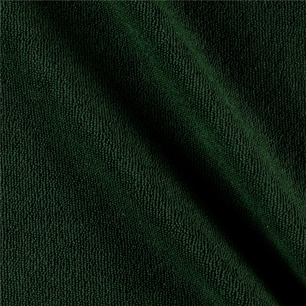 Designer Knit Velour/Terry Solid Forest Green