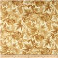 Shades of the Season Metallic Leaf Large Leaves Ivory