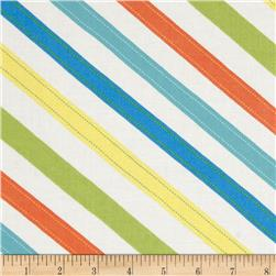 Moda ABC Menagerie Stitched Stripes Cloud