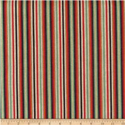 Laura & Kiran Yarn Dyed Outwest Zapata Stripe Woven Red/Black/Green