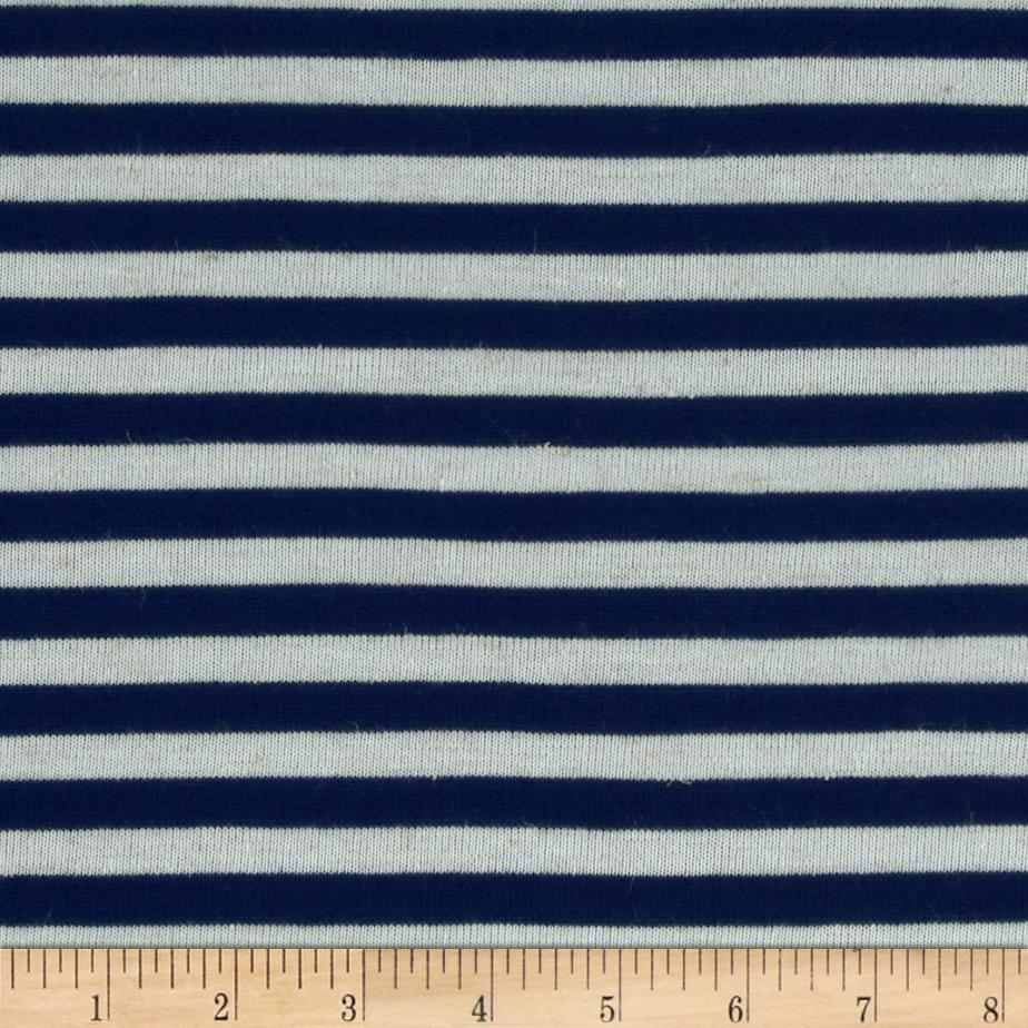 Yarn Dyed Tri Blend Hatchi Knit Stripes Navy/Off-White
