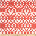 Crepe De Chine Abstract Coral/White