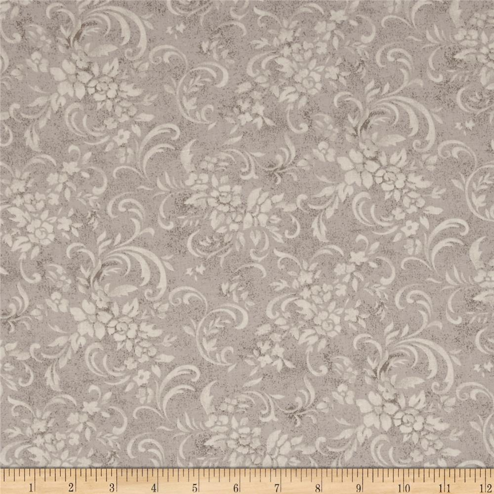 Moda Evening Mist Floral Scrolls Moonbeam