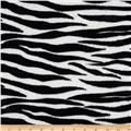 Coral Fleece Wild Zebra Black/White