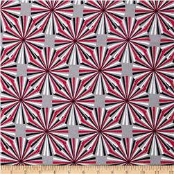 Laguna Stretch Cotton Jersey Starburst Red