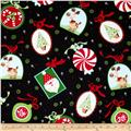 Peppermint Twist Large Ornaments Black