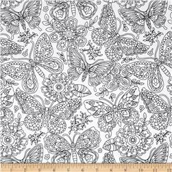 Michael Miller Color Me Papillon Paisley White