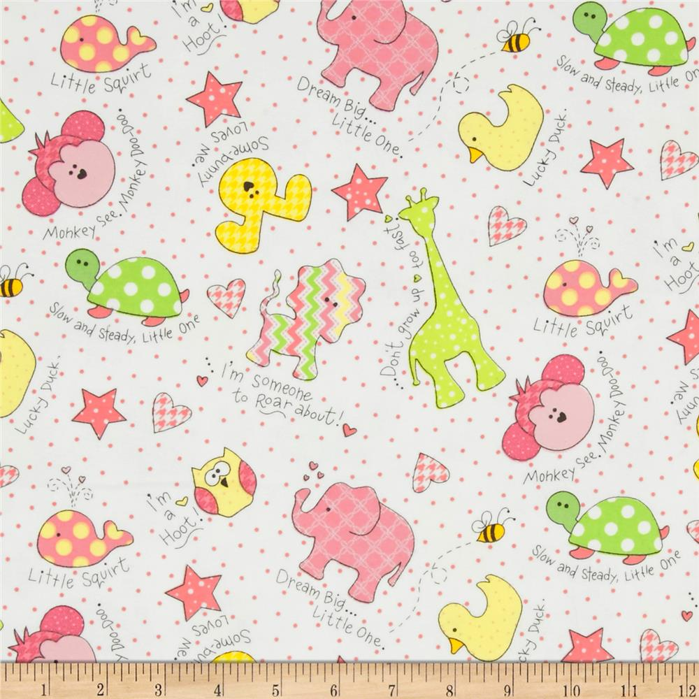 Kimberbell Little One Flannel Too! Tossed Little Ones Pink
