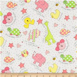 Kimberbell Little One Flannel Too! Flannel Tossed Little Ones Pink