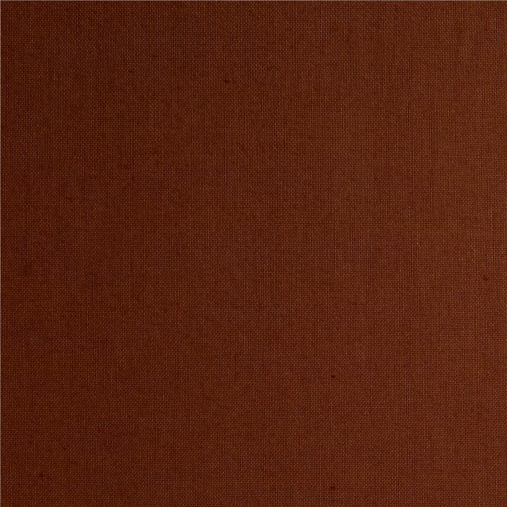 Cotton Broadcloth Cocoa Brown
