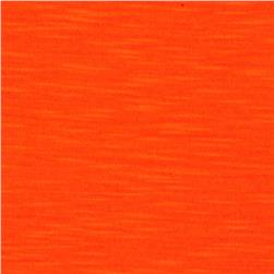 Soft Slub Jersey Knit Neon Orange
