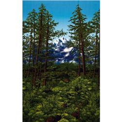 Nature Studies Tall Trees Border Meadow Green Fabric