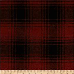 11.6 oz Wool Melton Plaid Orange/Black