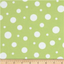Cozy Cotton Flannel Dots Pistachio