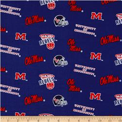 Collegiate Cotton Broadcloth University of Mississippi Blue