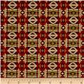Living Lodge Rustic Blanket Red