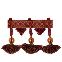 "Jaclyn Smith 2.75"" 02111 Tassel Fringe Berry"