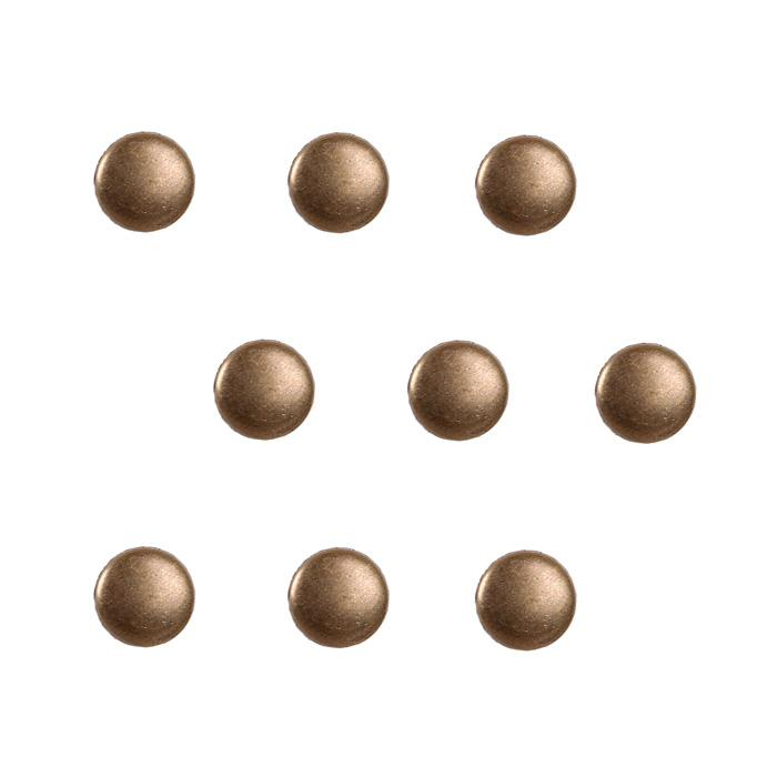 6mm Brass Dome Round 36pc