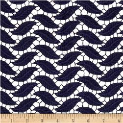 Technical Cotton Lace Navy