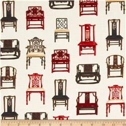 Oriental Traditions Metallic Chairs Vintage