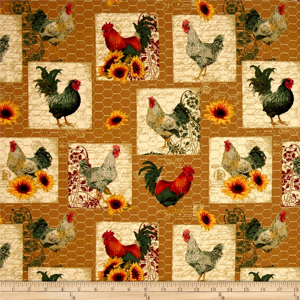 Penny Rose French Rooster Main Gold