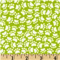 Michael Miller Holiday Pet Paws Lime