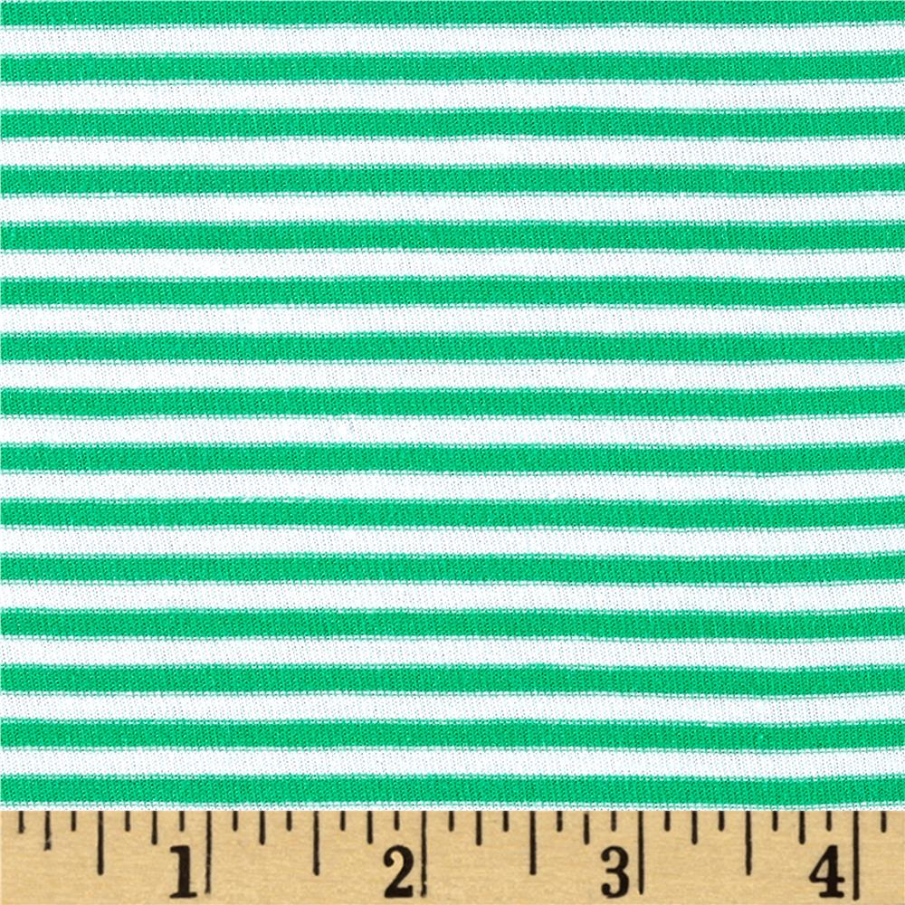 Stripe Jersey Knit Green/White