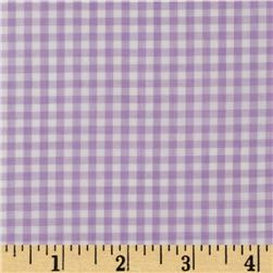 Woven 1/8'' Gingham Lilac Fabric