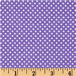 Cuddle Flannel Dots Purple
