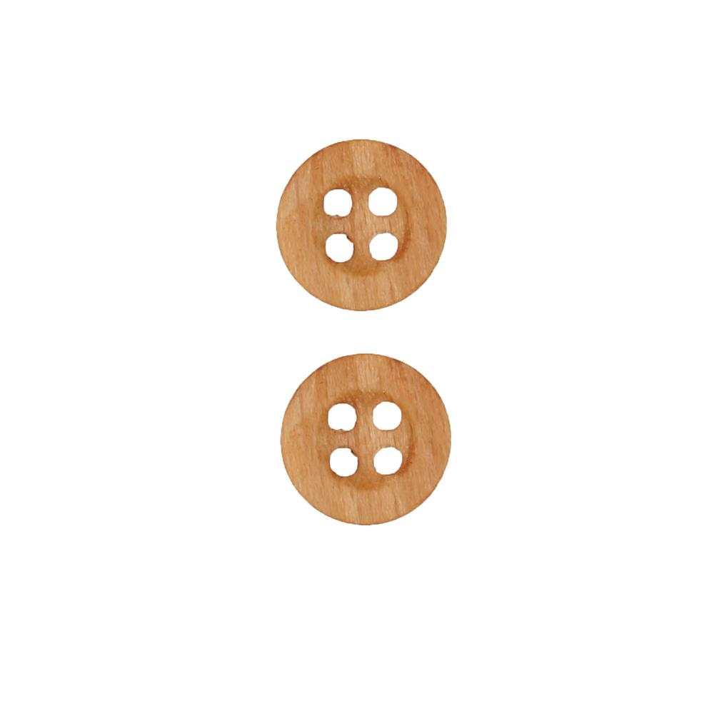 Dill Wooden Button 11/16'' Circle