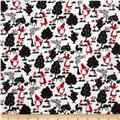 Double Gauze Alice In Wonderland Black/Red