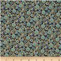 Imperial Gardens Metallic Imperial Small Floral Blue