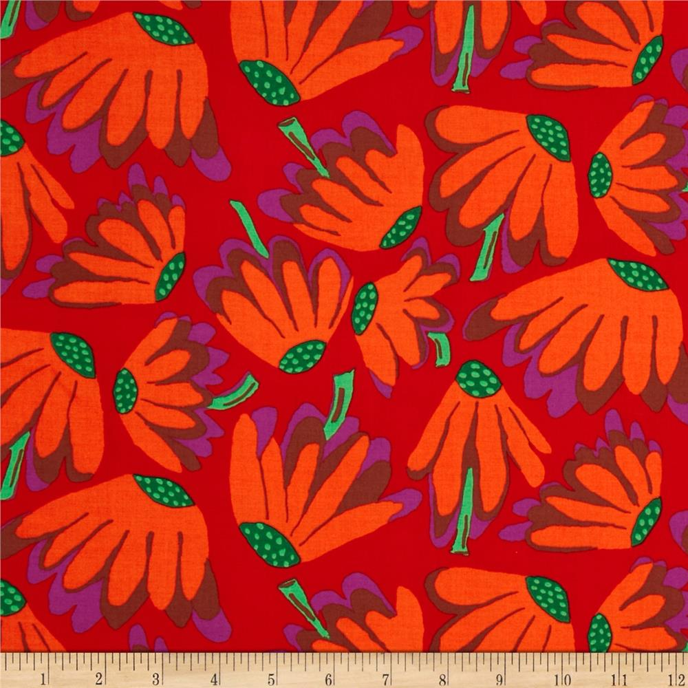 Kaffe Fassett Collective Volcano Lazy Daisy Red