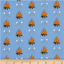 Take a Hike Flannel Campfires Blue