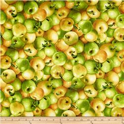Farmer John's Organic Apples Multi Fabric