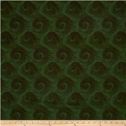 "Breezy 108"" Wide Back Circular Print Dark Green On Green"