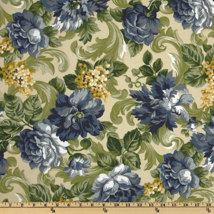 Richloom Indoor/Outdoor Garden Scroll Delft