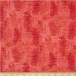 Happy Birthday Texture Red Fabric