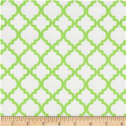 Dreamland Flannel Bella White/Green Apple