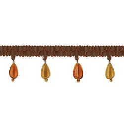 "Jaclyn Smith  1/2"" 01873 Tassel Fringe Brown"
