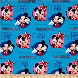Disney Mickey & Minnie Text Me Blue