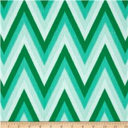 Moda Color Me Happy Ikat Chevron Emerald