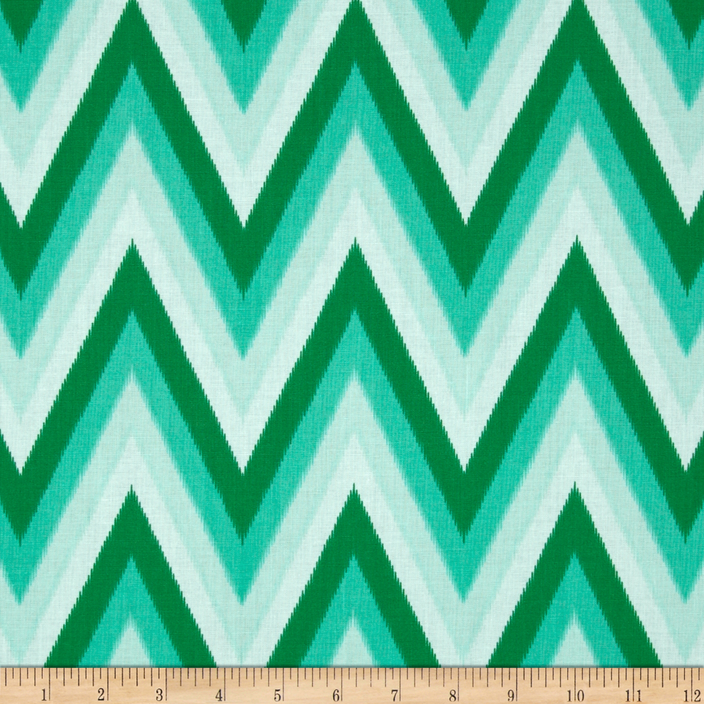 Moda Color Me Happy Ikat Chevron Emerald Fabric