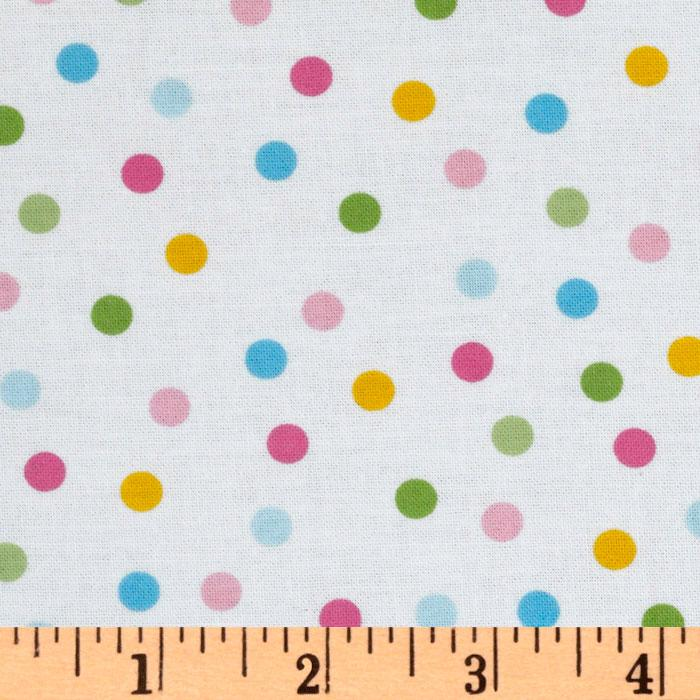 Remix Slicker Laminated Cotton Polka Dots Pastel