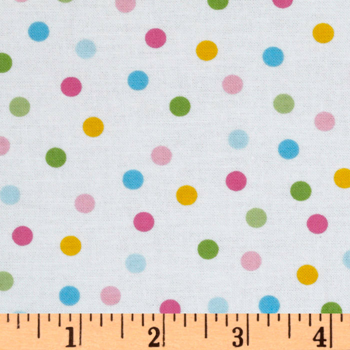 Remix Slicker Laminated Cotton Polka Dots Pastel Fabric