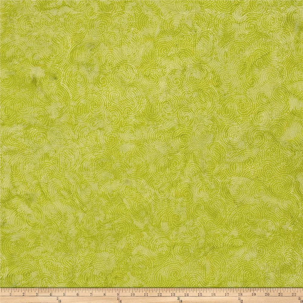 Island Batik Swirl Dot Light Green