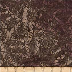 Timeless Treasures Tonga Batik Sonoma Geo Palms Plum