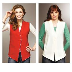 Kwik Sew Single Button Vests Pattern